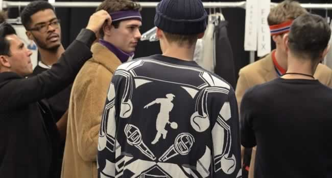 Backstage at New York Fashion Week with Lacoste