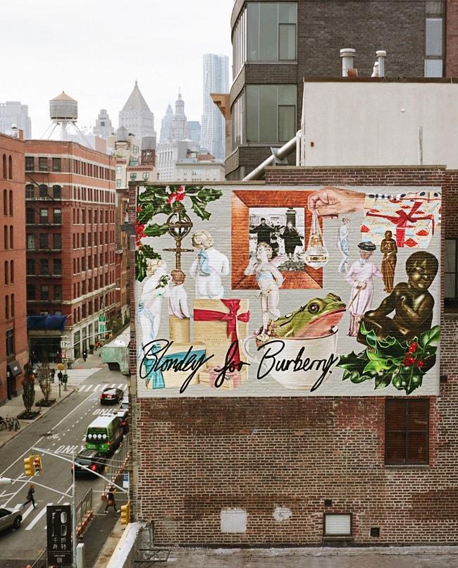 Burberry x blondey mccoy manhattan murals for Mural on broome street