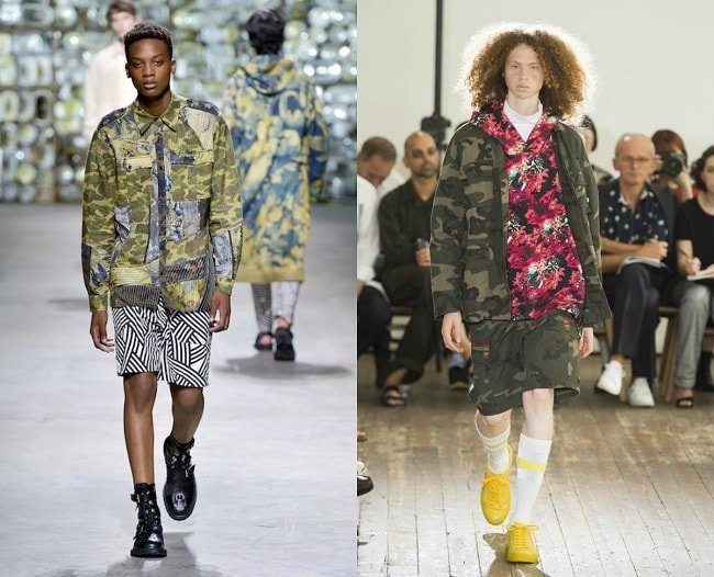 Army-inspired camo prints