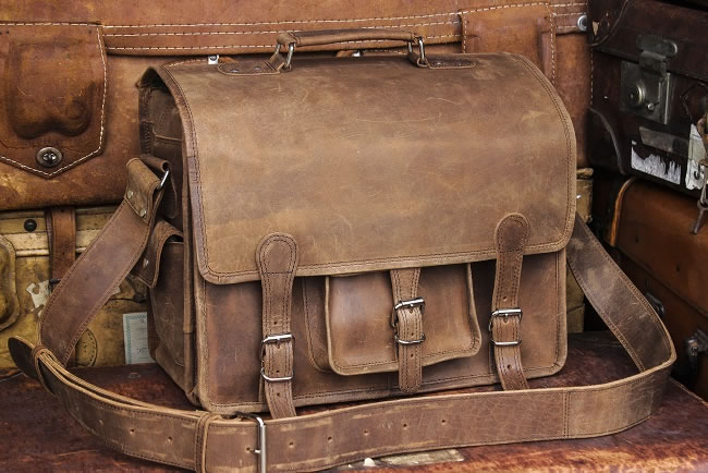 Overlander leather satchel