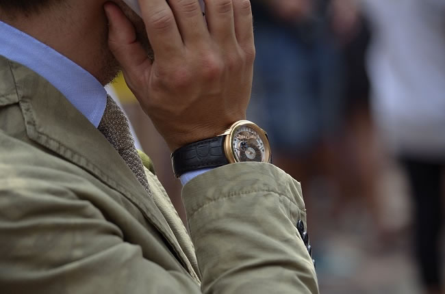 """Guys in Milan have a taste for fine luxury watches"""