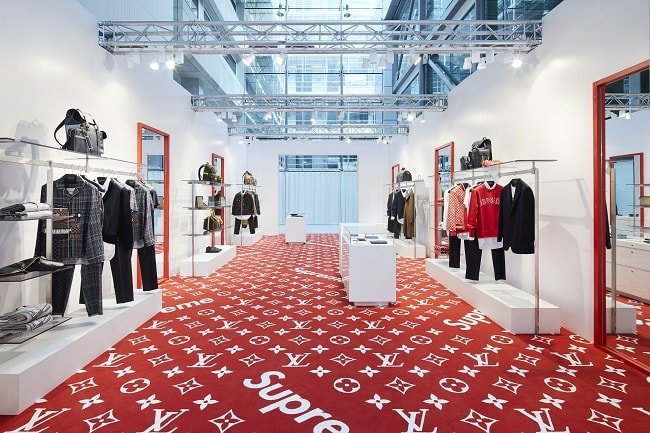 Supreme x LV pop up London