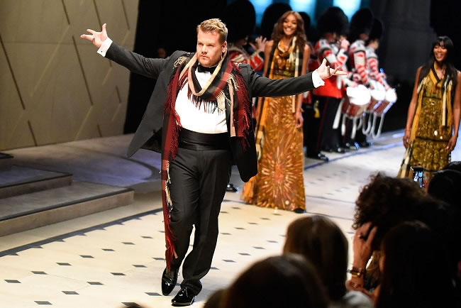 James Corden for Burberry