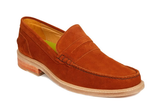 For The Ever Eccentric (Leiston tan suede penny loafers)