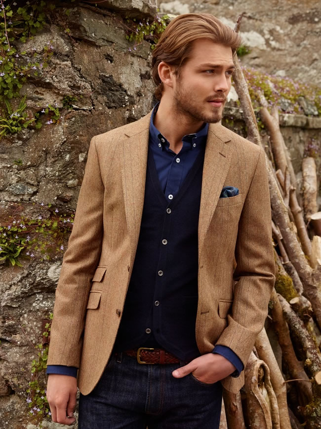 """Outdoor wear compliments classic tailoring"""