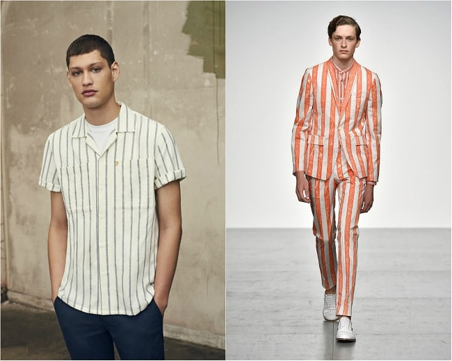 Contrasting Vertical Stripes