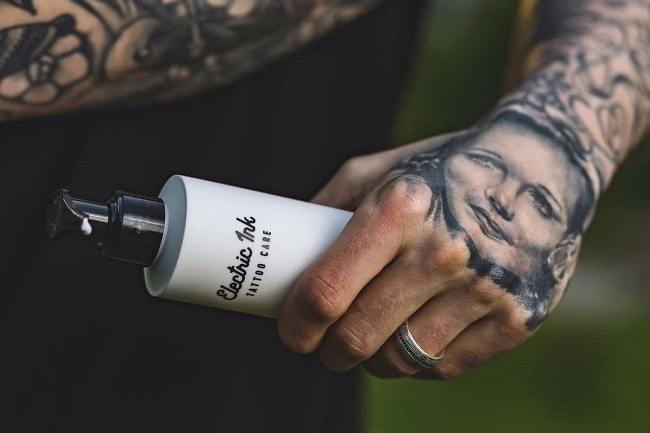 We have some electric ink tattoo skincare to give away for Electric ink tattoo