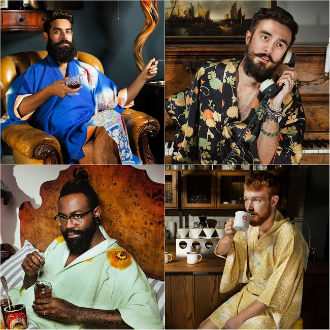 Bearded Men in Silky Kimonos 2016 Calendar