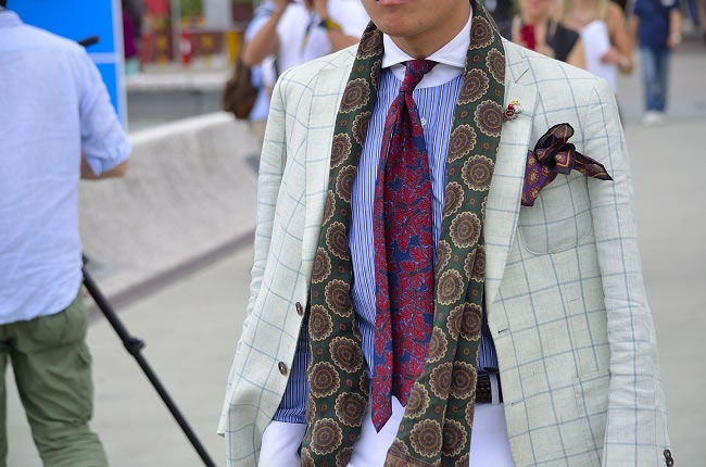 """Forget everything you've learned about styling your tie"""