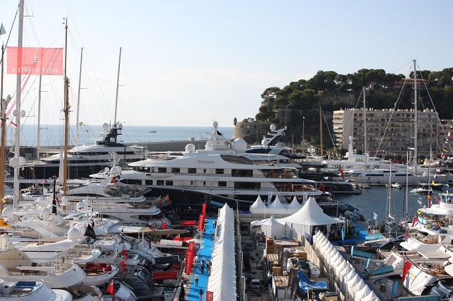 """The Monaco Yacht show is vast with a buzzing atmosphere"""
