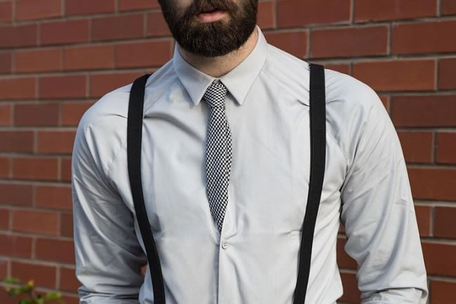No need to tuck your tie into your shirt