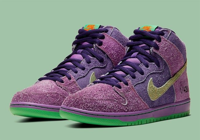 Nike SB Dunk High Reverse Skunk 420
