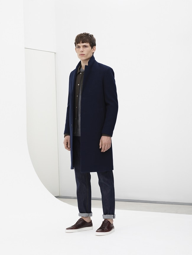 Compact Wool Epsom Coat