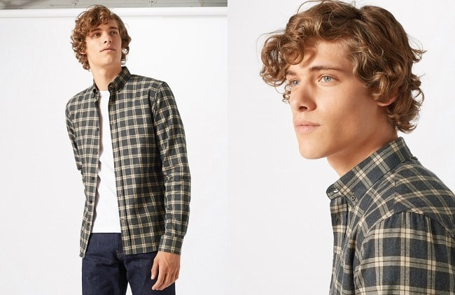 Italian Melange Flannel Check Shirt