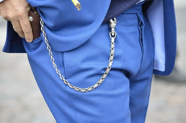 Suits accessorised with wallet chains