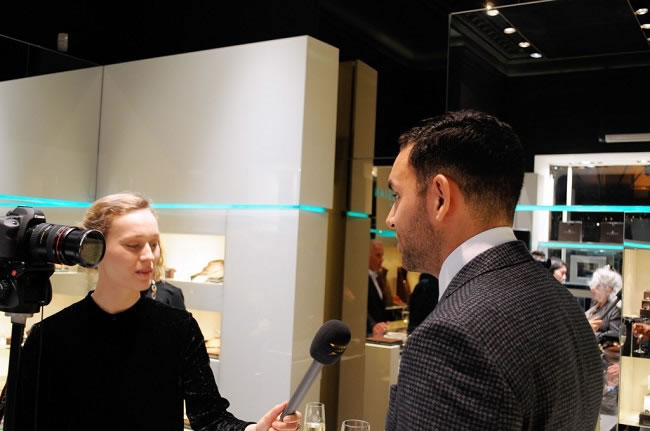 Craig being interview by Fashion One TV
