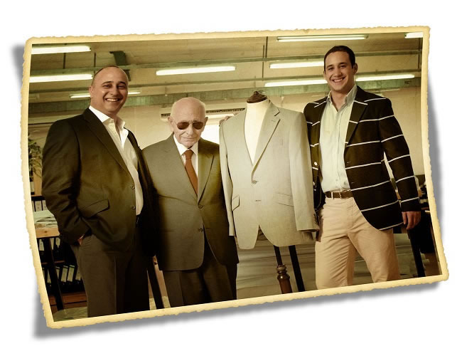 Three generations of Gagliardi – Peter, Salvatore 'Sunny' (aka Il Gagliardi) and Sam