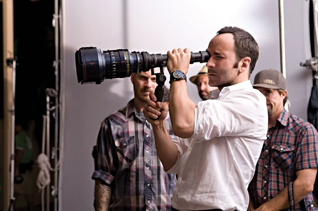 Tom Ford directing the 'A Single Man' film