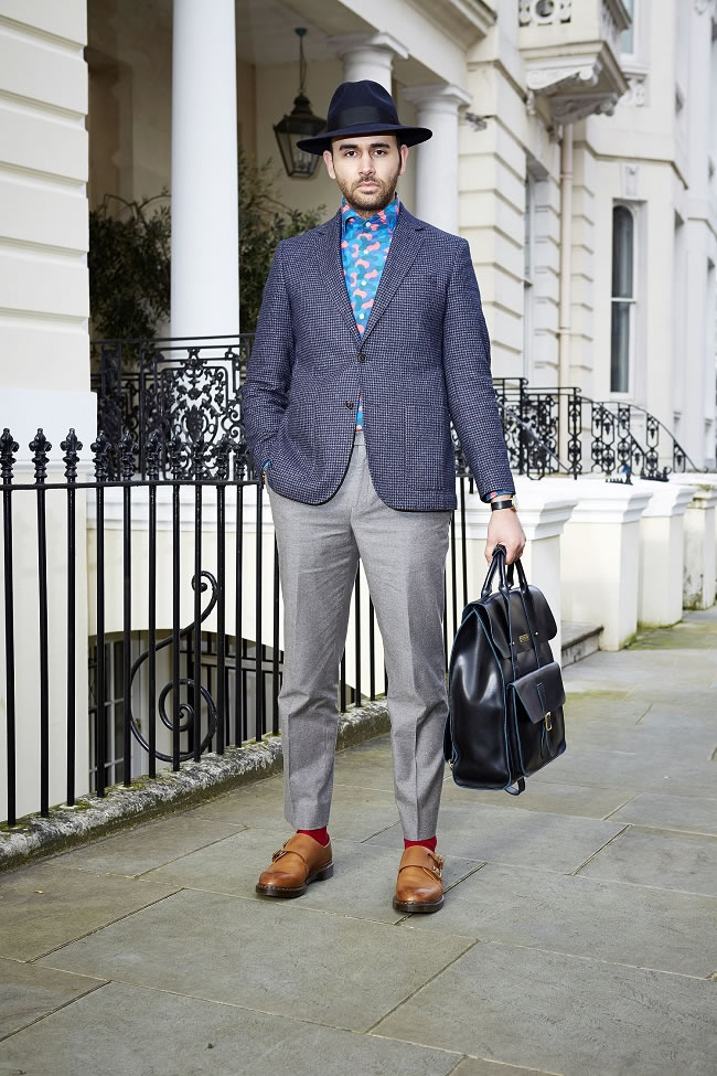 Craig Landale wears the Dr Martens Jules Double Monk Strap Shoe