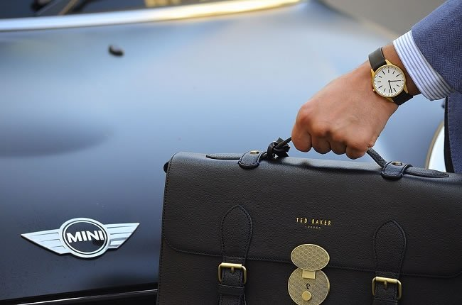 """Ted Baker briefcase modelled from their first ever bag"""