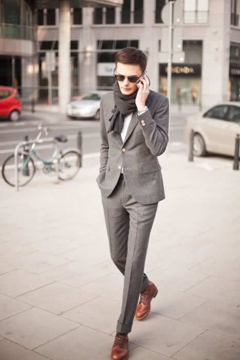 Slim fit suit and boots