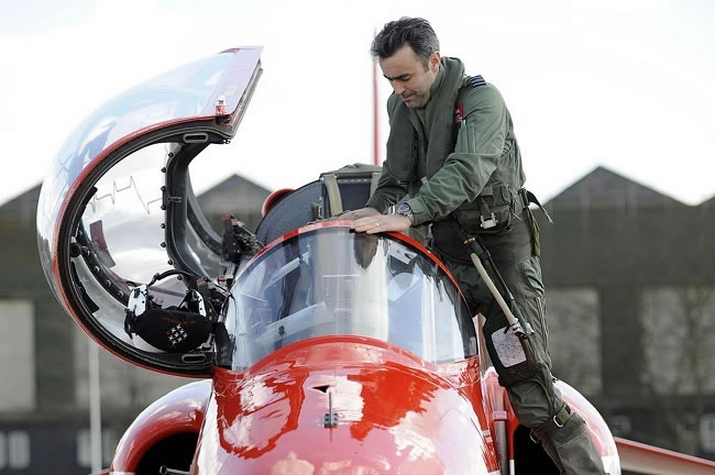 Red Arrows Squadron Leader Graham Duff