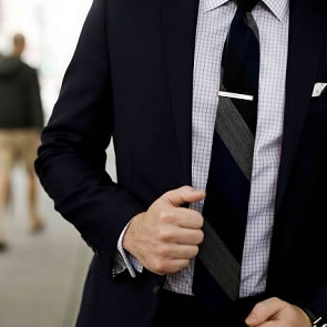 Where to wear a tie clip?