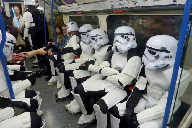 Fancydress on the London Underground