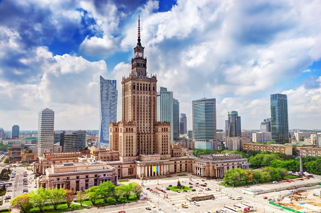 """Warsaw is teeming with life"""