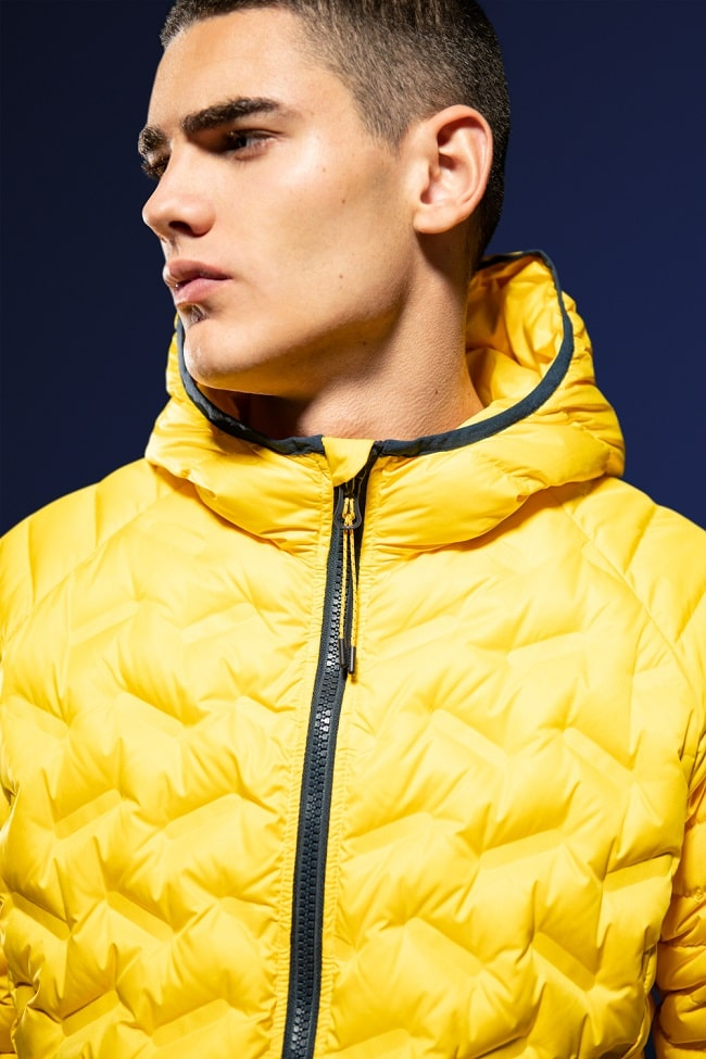 Down Radar Mix Quilted Jacket