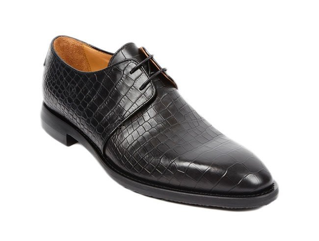 For The Classic Boardroom Commander (Bojano black textured leather shoes)