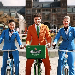 KLM Joins Forces with Heineken