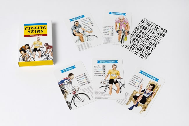 Cycling Stars, a Trump Card Game
