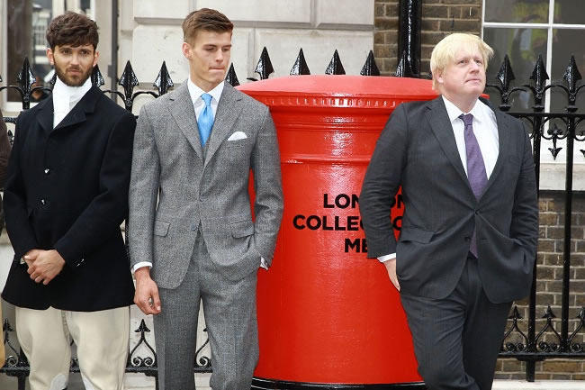 Boris Johnson on Savile Row for LC:M