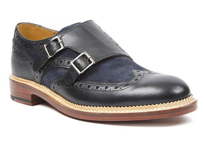 For The Sartorialist (Brantham navy leather monk-straps)