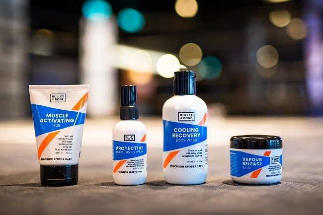Bullet and Bone Launch Sports Care Skin Recovery Range