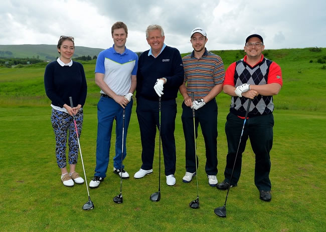 """Colin Montgomerie joined us on the 18th hole"""