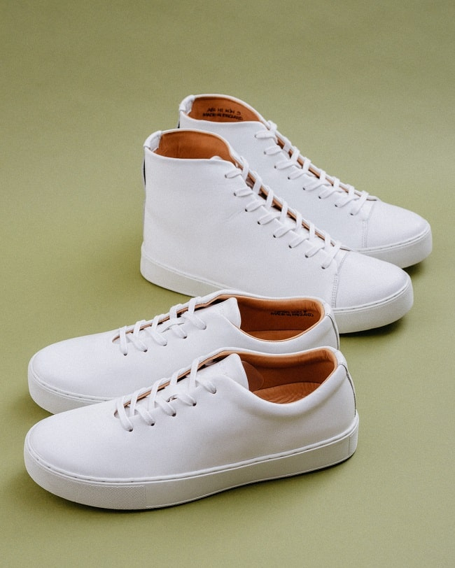 Abington Hi Toe Cap & Upton Wholecut - All White Calf Leather