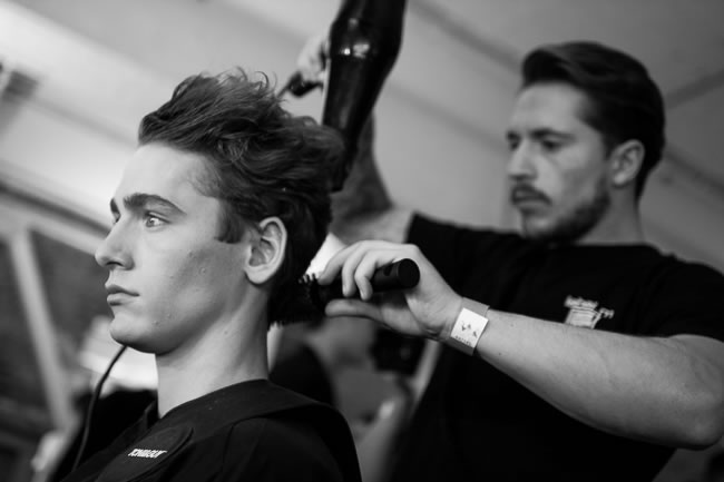 Backstage at LC:M with Toni & Guy